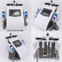 ultrasonic cavitation equipment ce 2019 - New Arrival 40K Ultrasonic liposuction Cavitation 8 Pads lipolaser Slimming Beauty Machine Vacuum RF Skin Care Equipment