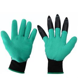 New Blue Guanti da giardino One Pair Claws Design Latex Work Per scavare Planting Unisex resistente al taglio Nitrile Silt Protection Punta delle dita