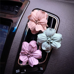 Perfume Wholesale Outlet NZ - Car Styling Delicate Matte Flower Vehicle Air Conditioning Outlet Perfume Car Air Freshener A C outlet perfume clip small flowers decoration