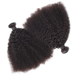 KinKy curly can dyed online shopping - Brazilian Virgin Human Hair Afro Kinky Curly Wave Unprocessed Remy Hair Weaves Double Wefts g Bundle bundle Can be Dyed Bleached