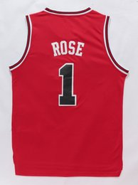 #1 Деррик Роуз мужские трикотажные изделия высокого качества размер S-XXL мужчины Спорт Джерси