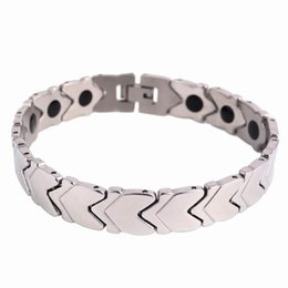 $enCountryForm.capitalKeyWord UK - Trendy Healing Magnet Bracelet Bangle for Men Stainless Steel Health Care Magnetic   Germanium Element Bracelet Wristband Wholesale