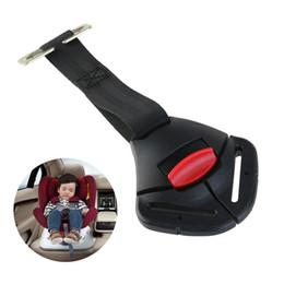 Ingrosso Clip di sicurezza per seggiolino auto per bambino nero Fermaglio fisso per cintura di sicurezza Cinghia per cintura di sicurezza per imbracatura Clip per bambino con fibbia per fermagli Morsetto per bambino