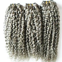 $enCountryForm.capitalKeyWord Canada - Brazilian Kinky Curly Virgin Human Hair Grey kinky weave hair unprocessed virgin brazilian gray hair extensions 300g 3PCS