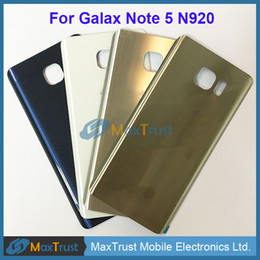 $enCountryForm.capitalKeyWord Canada - Top Quality For Samsung Galaxy Note5 Note 5 N920 N920F Battery Cover Rear Back Housing Door With Adhesive 4 Color