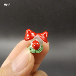 mushroom kids toy NZ - Three Micro Red Mushroom Model Toy Kid Gift Artificial Simulation Figurines Perceive Learning Game Educational Prop