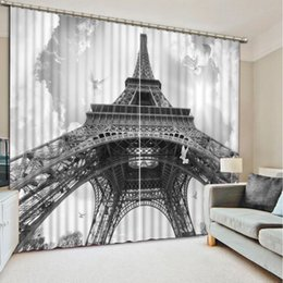 $enCountryForm.capitalKeyWord UK - Luxury European Modern black and white tower custom curtain fashion decor home decoration for bedroom