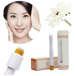 Chinese  New Titanium Micro Needles Derma Stamp Dermaroller Derma Roller Skin Care Anti Ageing Scars Acne Spot Wrinkles MOQ1PCS manufacturers