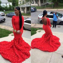 $enCountryForm.capitalKeyWord Canada - 2K17 Kaftan Arabic Vintage Bateau Mermaid Long Sleeves Red Evening Dresses Plus Size Custom Made Prom Gowns With Open Backless
