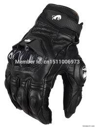 All'ingrosso-Spedizione gratuita AFS 6 da uomo in pelle da corsa guanti da moto guanti protettivi guanti da strada in Offerta