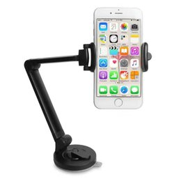 Cup Holders Adjustable Canada - Gooseneck Lazy Arm Phone Holder Adjustable Desktop Cell Phone Holder Stand Cradle with Suction Cup for iphone for Samsung Android