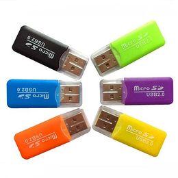 Cheap Flash Gifts Australia - USB Card Reader 2.0 SD GSM Sim Interface Sim TF Flash for Memory Card 16gb 32gb 64gb Super High Speed Cheap Phone Reader Christmas Gifts
