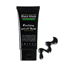 Black Mask Wholesale UK - Hot Selling 50ml SHILLS Deep Cleansing purifying peel off Black mud Facail face mask Remove blackhead facial mask Shills Masks DHL Free