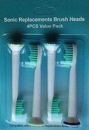 $enCountryForm.capitalKeyWord NZ - Electric Toothbrush Head Replacement Heads Fits for Philips Sonicare P-HX-6014 HX6014 Tooth Brush Oral Hygiene 4pcs Packs MOQ;300Packs