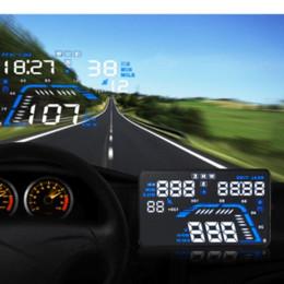 Fuel Consumption Display NZ - Q7 HUD 5.5 inch Car GPS Head Up Display Projector Speed Warning MPH Fuel Consumption with Car Charger OBD II Interface