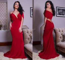 $enCountryForm.capitalKeyWord Australia - Elegant Cheap Halter Trumpet Long Evening Dress Gown In Wine Color So Sexy Arabic Evening Gowns Dress For Women ADE010