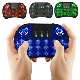 Air Mouse RII Multi-light Беспроводная Клавиатура Mini I8 2,4 ГГц Сенсорная Панель Пульт Дистанционного Управления Для TV BOX Игры Играть планшетный ПК DHL OTH500