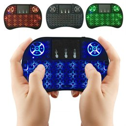 Discount boxing games - RII Air Mouse Multi- light Wireless Keyboard Mini I8 2.4GHz Touchpad Remote Control For TV BOX Game Play Tablet PC DHL O