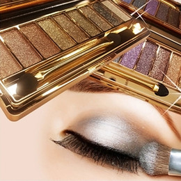 party eye palette 2020 - Wholesale-9 Colors Shimmer Eyeshadow Eye Shadow Palette & Makeup Cosmetic Brush Set Party Cocktail Wedding Long Lasting