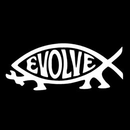$enCountryForm.capitalKeyWord Canada - Hot Sale Cool Graphics Car Stying Evolve Fish Vinyl Decal Sticker Car Window Decoration Personality Car Stickers