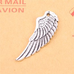 Wings For Making Jewelry Canada - 37pcs Tibetan Silver Plated angel wings Charms Pendants for Jewelry Making DIY Handmade Craft 38*14mm