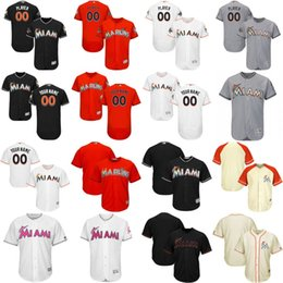 393ab217c76 ... Mens Womens Youth Miami Marlins 2017 Custom Personalized Authentic  Collection Customized Stitched Embroidery Logos Baseball Jerseys ...