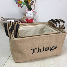 Sorting boxeS online shopping - Linen Storage Box Large Dirty Clothes Folding Sort Out Boxes Layer Yellow Letter Household Delicate Durable High Quality bl I R