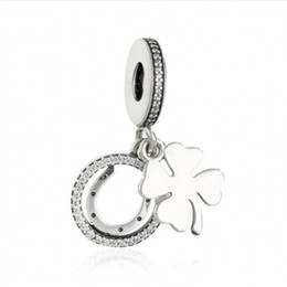 $enCountryForm.capitalKeyWord Australia - Lucky Day Dangle Flower Charms Pendants Authentic 925 Sterling Silver Jewelry Clover Beads For DIY Brand Bracelets Making Accessories