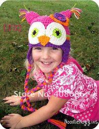 $enCountryForm.capitalKeyWord NZ - OWL Crochet Knitted Hat Baby Boys Girls Children Beanie Earflaps Winter Cartoon Animal Cap Newborn Infant Toddler Kids Photo prop Cotton Hat