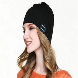 $enCountryForm.capitalKeyWord Australia - Warm Winter Hat for Women Men Beanie Bluetooth Music Knitting Hats Cap with Stereo Headphone Headset Outdoor Caps Christmas Gift DHL