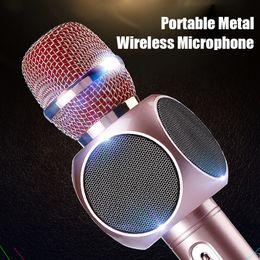 $enCountryForm.capitalKeyWord NZ - High quality New model E103 wireless microphone phone bluetooth speaker wireless microphone Singsong musical KTV for smartphone Mobile Phone