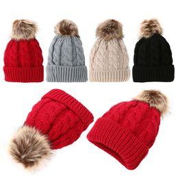 bd15e24778d Women Winter Warm Braided Crochet Knitting Hat Girls Beret Ski Beanies Wool  Ball Cap Ski Cap Caps Knit Pom Bobble Hat DM 6