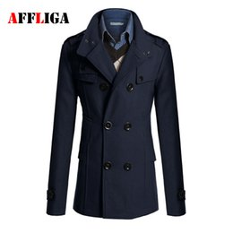 Discount Cool Mens Trench Coats | 2017 Cool Mens Trench Coats on ...
