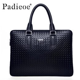 051abaaaef3a Wholesale- Padieoe Men s Briefcase Famous Brand Tote Bag Leather Messenger  Bag Business Men Handbags Fashion Shoulder Bags Free Shipping