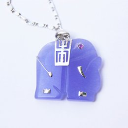 $enCountryForm.capitalKeyWord Canada - Charming purple jade elephant talisman necklace pendant (luck)
