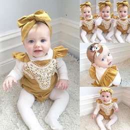 Old Fashioned Baby Clothes Wholesale Canada - 2017 summer fashion new European and American children stitching embroidery triangular climbing jeans even clothes 0-2 year old female baby