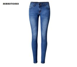 Jeans Sexy Spandex Pas Cher-Vente en gros- 2016 Brand skin skinny jeans Taille plus sexy Low cintre Stretchy Pencil Jeans pour femme