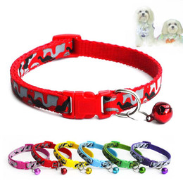 Pet cat charm for collars online shopping - Camouflage Dog Cat Bell Collar Adjustable Outdoor Comfortable Nylon Pet Collars For Small Dogs Puppies Pets Collars