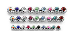 Lip Piercing Wholesale NZ - Tongue Ball Screw Gem Stone Crystal Spark Lip Stud Eyebrow Ring 316L stainless steel Piercing accessory 1.6*6mm 1.2*3mm Free Shipping
