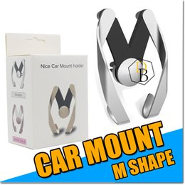 Discount used mobile iphone - Cell phone Holder Air Vent Car Mount M Shape Phone Stand For Iphone 7 6s plus Universal use for Mobile Samsung Sony HTC