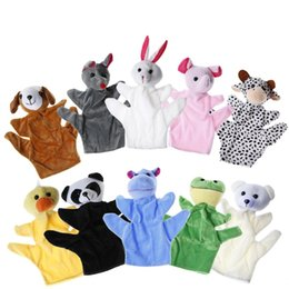 cute puppets UK - 2017 Hot Cute Big Size Animal Hand Puppet Dolls Plush Baby Child Zoo Animal Hand Glove Puppet Finger Sack Plush Toy