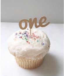 $enCountryForm.capitalKeyWord Australia - Custom personality 30pcs Glitter First Birthday cupcake toppers wedding fruit Picks Bridal baby shower Bachelorette party decorations