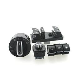 Volkswagen jetta headlights online shopping - headlight window Switch VW Passat B6 Jetta Golf MK5 MK6 CC ND941431B ND959857 ND959855 ND959565A set
