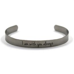 Tale charm online shopping - 6pcs i am with you always silver tone Cuff Bracelet bangles Fairy Tale Fairy Princess inspired bangles
