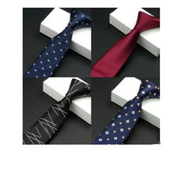 silk polyester NZ - Men's tie style narrow waterproof wedding fashionable 5.5 polyester silk 1200 needles polychromatic optional free delivery