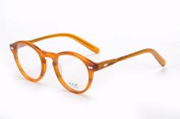 10f2ab1a4aa HOT SALE-2017 Fashion retro vintage brand Moscot miltzen johnny depp  prescription glasses optical eyeglasses spectacle frame men eyewear
