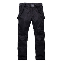 Wholesale- Unisex Waterproof snowboard pants men women ski trousers Breathable Warm mens snow pant for mountain skiing suspenders plus size cheap pink waterproof trousers from pink waterproof trousers suppliers
