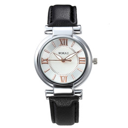 $enCountryForm.capitalKeyWord UK - New Man Woman Luxury Leather Strap Watch Roma Numeral Round Dial 4 Colors Free Shipping Via DHL