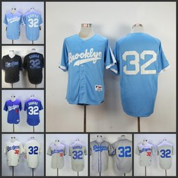 570332a5 Throwback Jersey Mens Los Angeles Dodgers 32 Sandy Koufax MN Blue White  Cream ...