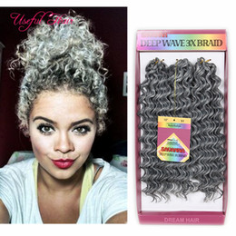 brazilian crochet braiding hair 2019 - CHRISTMSA braid in bundles 10INCH DEEP WAVE Synthetic brazilian hair bundles 3pc pack high quality jumpy Bouncy Curl cro